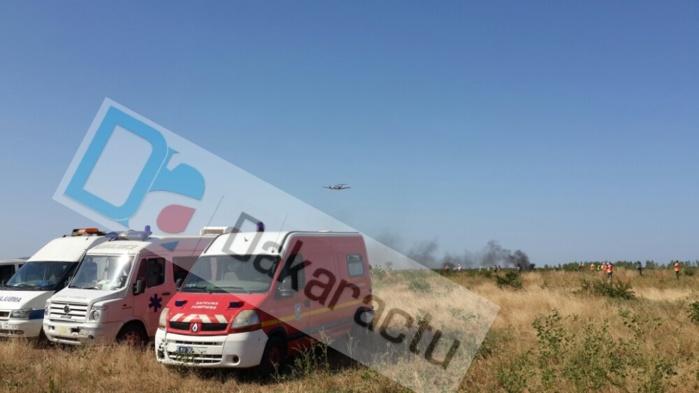 Un vol commercial s'écrase à Notto (Thiès) :Les secours s'organisent, pas de bilan pour le moment (Photo)