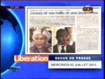 Revue de presse du lundi 27 janvier 2014 (Ahmed Aidara vidéo)
