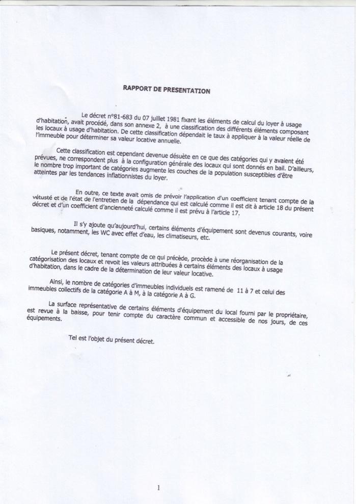 Dakaractu offre en toute exclusivité à ses lecteurs, les deux décrets qui complètent la loi sur la baisse du loyer. (DOCUMENTS)