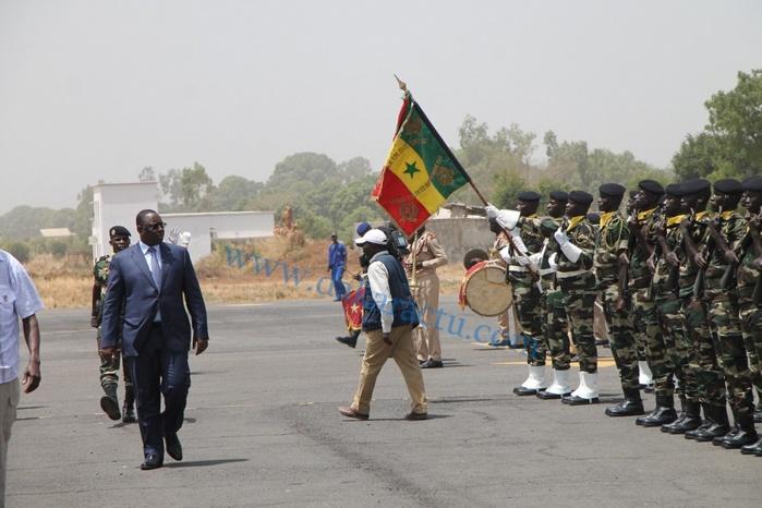 Les images de l'arrivée du Président de la République à Ziguinchor