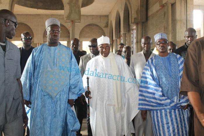 Les images de la visite de Abdoulaye Wade à la mosquée Mazalikoul Jinnan