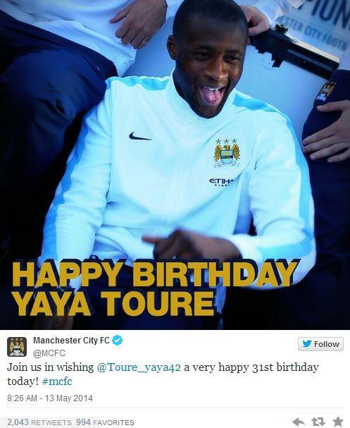 Yaya Touré voudrait retourner au Barça parce que City a oublié son anniversaire