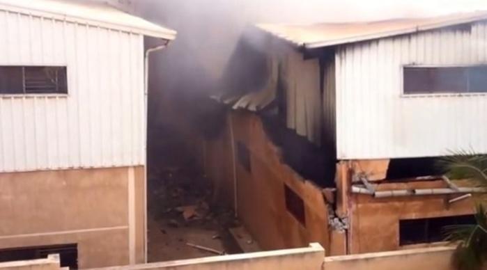 L'usine Darling ravagée par les flammes: Nébuleuse sur un incendie