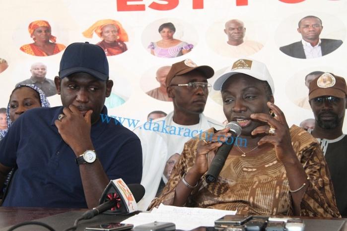 Les images de la conférence de presse de Mimi Touré