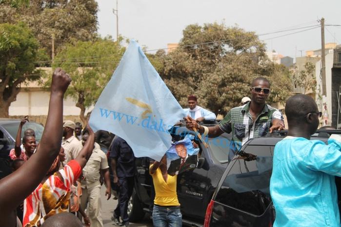 Les images de la caravane de Abdoulaye Wade aujourd'hui