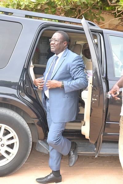 Les images de Mbaye Ndiaye dans son bureau de vote aux Parcelles Assainies.