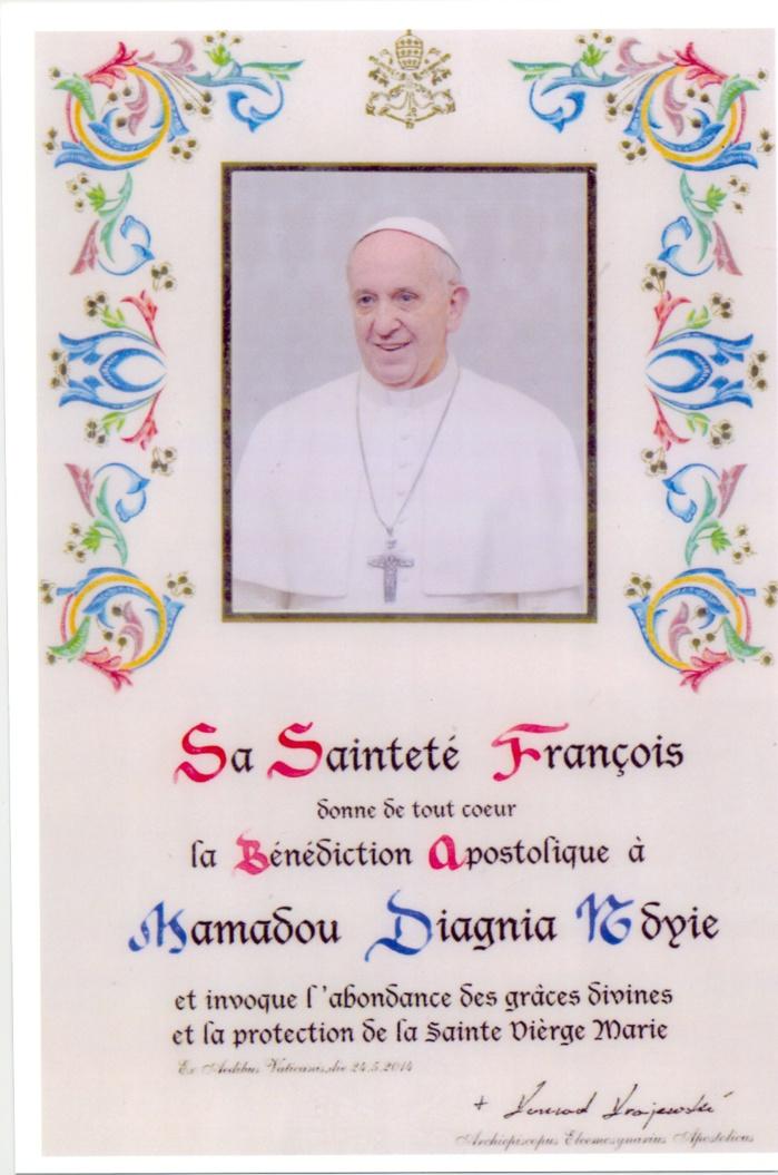 Dialogue islamo-chrétien : Le Pape François donne sa bénédiction à Mamadou Diagna N'diaye