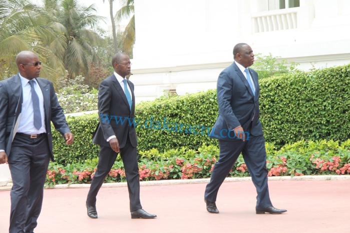 L'arrivée du président de la République Macky Sall au premier conseil des ministres sous Mouhamed Dionne