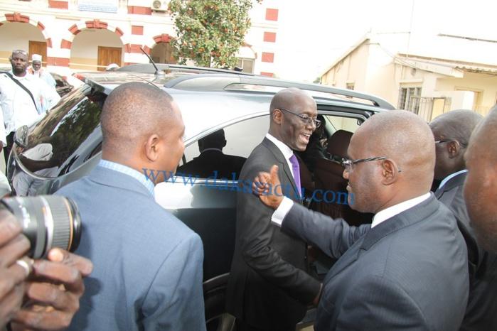 Les images de la passation de service au ministère des infrastructures entre Thierno Alassane Sall et Mansour Elimane Kane