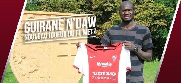 Guirane N'daw s'engage avec le FC Metz.