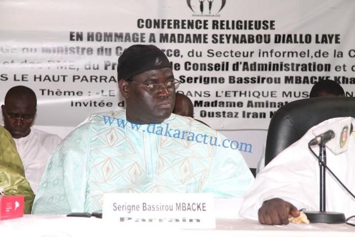 Les images de la Conférence religieuse organisée par l'amicale des femmes du CICES, sous le haut parrainage de Serigne Bassirou M'backé Khadim Awa Ba (Thème : le travail dans l'éthique musulmane°