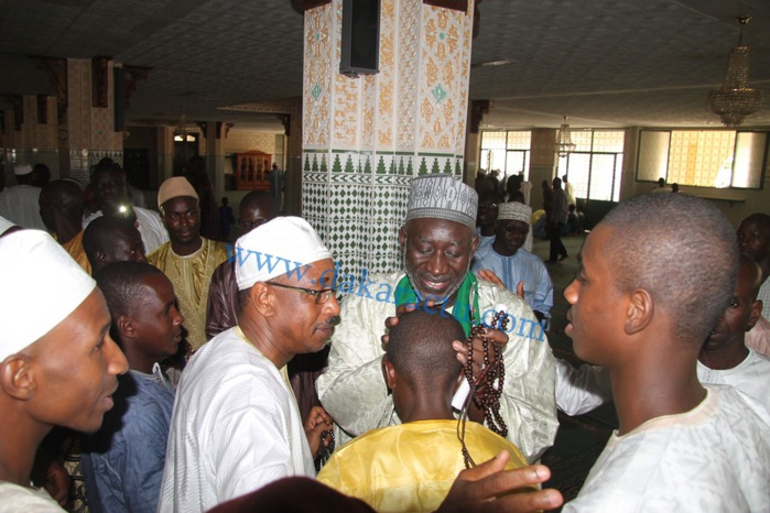 Les images de la célébration de la Korité à la mosquée omarienne
