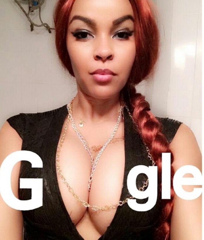 """L'escort-girl Karina Tavarez compare ses seins aux deux """"O"""" de Google dans les réseaux sociaux"""