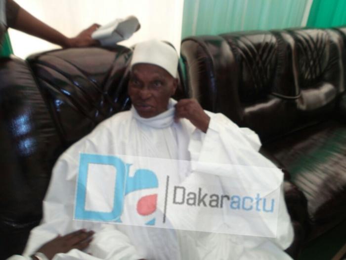 L'ancien président de la République, Abdoulaye Wade était à la mosquée Mazalikoul Jinnan