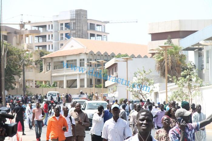 Les images de l'arrivée de Bibo Bourgi au palais de Justice de Dakar