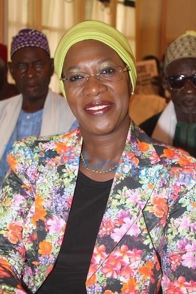 Le Dr Anta Sarr, ancienne ministre de la femme et candidate malheureuse à la Sicap, lors de l'élection de Khalifa Sall