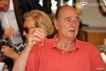 Jacques Chirac en vacances chez le roi du Maroc