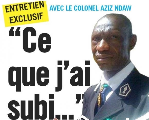 Le Colonel Abdoulaye Aziz Ndaw, auteur de l'ouvrage ''Pour l'honneur de la gendarmerie''  ''J'ai pris toutes mes responsabilités, je suis prêt à faire face'
