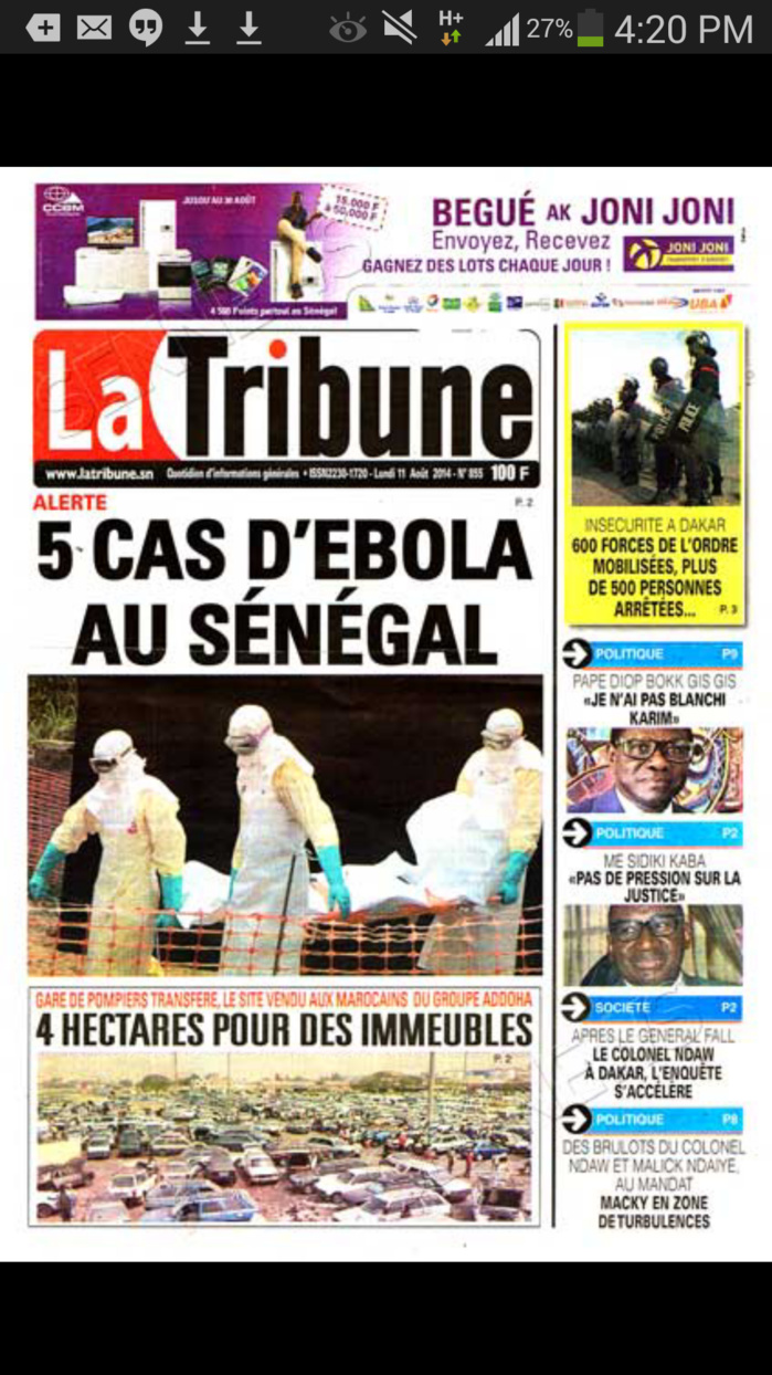 amis journalistes on ne joue pas avec ebola. Black Bedroom Furniture Sets. Home Design Ideas