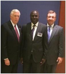Dr Diouf avec le Congressman Hoyer et Kevin Doyle