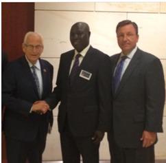 Dr Diouf, le Congressman Pascrell et Kevin Doyle