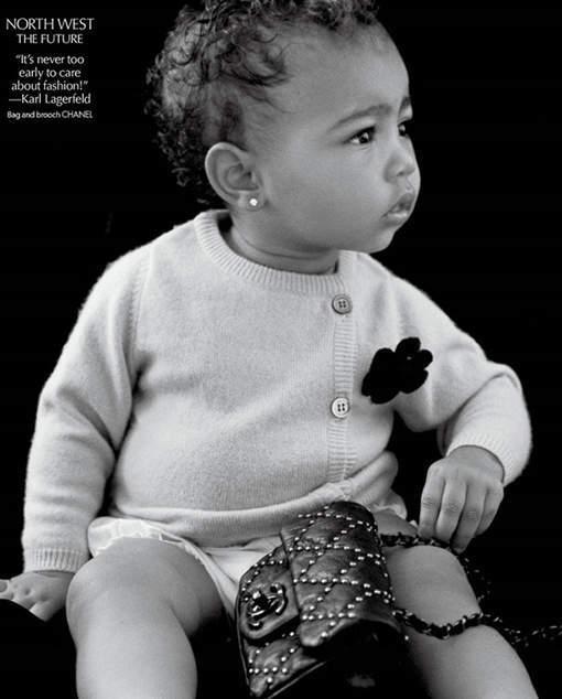 Le bébé de Kim Kardashian fait déjà dans la mode