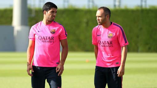 Premier entraînement pour Suarez avec le Barça