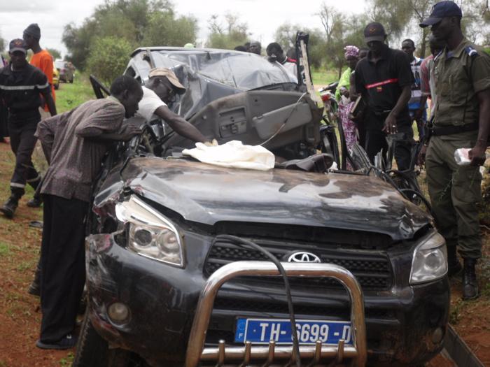 Les images de l'accident de Bambey qui a fait 2 morts et 3 blessés graves