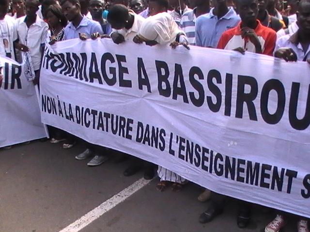 Mort de Bassirou Faye : Ucad rend hommage à son étudiant (Les images touchantes)
