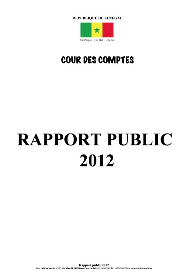 Sénégal : Voici le rapport annuel 2012 de la Cour des comptes (DOCUMENTS)