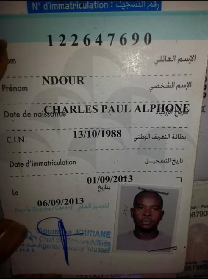 Voici Charles Paul Alphonse Ndour, le sénégalais égorgé au Maroc