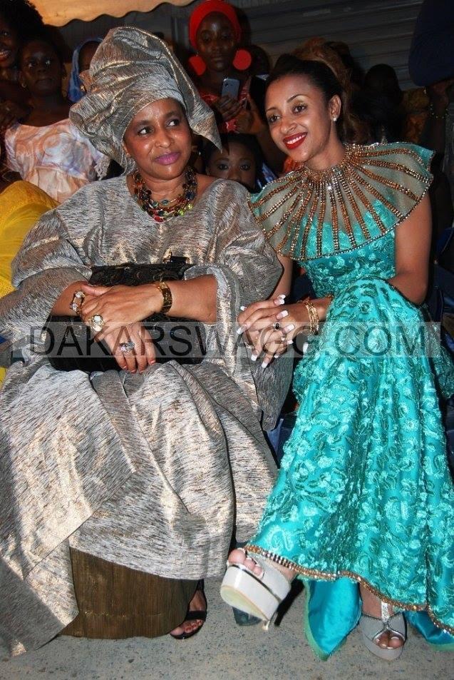 Baptême du fils d'Hamady Badiane : Sokhna Aidara, la femme de Wally en toute complicité avec belle mère Kiné Diouf