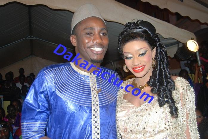 Wally Ballago Seck en compagnie de Kiné au baptême de Hamady Badiane