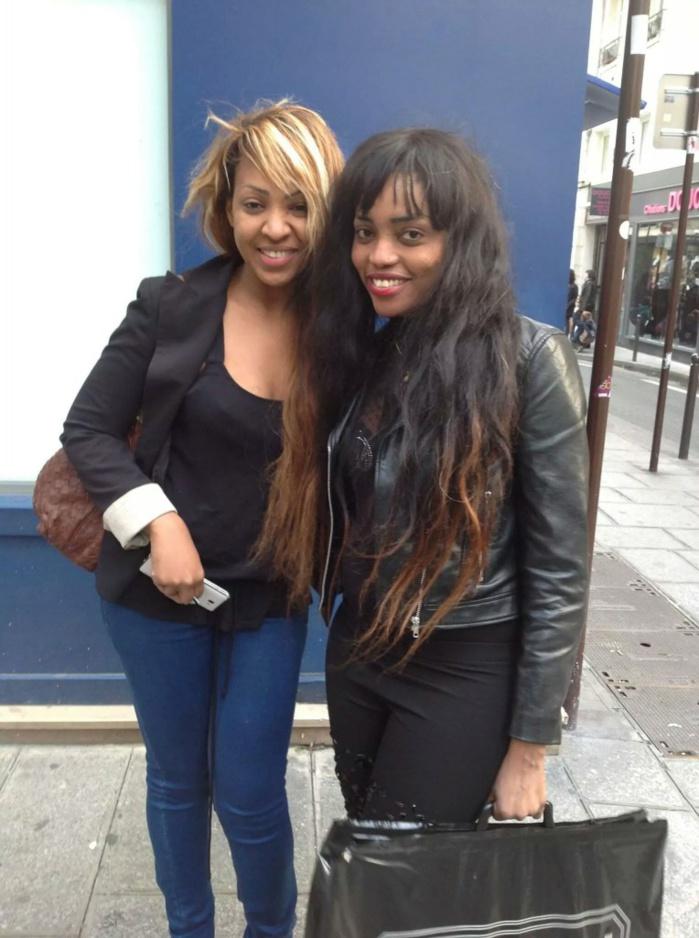 Viviane Chidid à Paris en compagnie de Satou Thierno