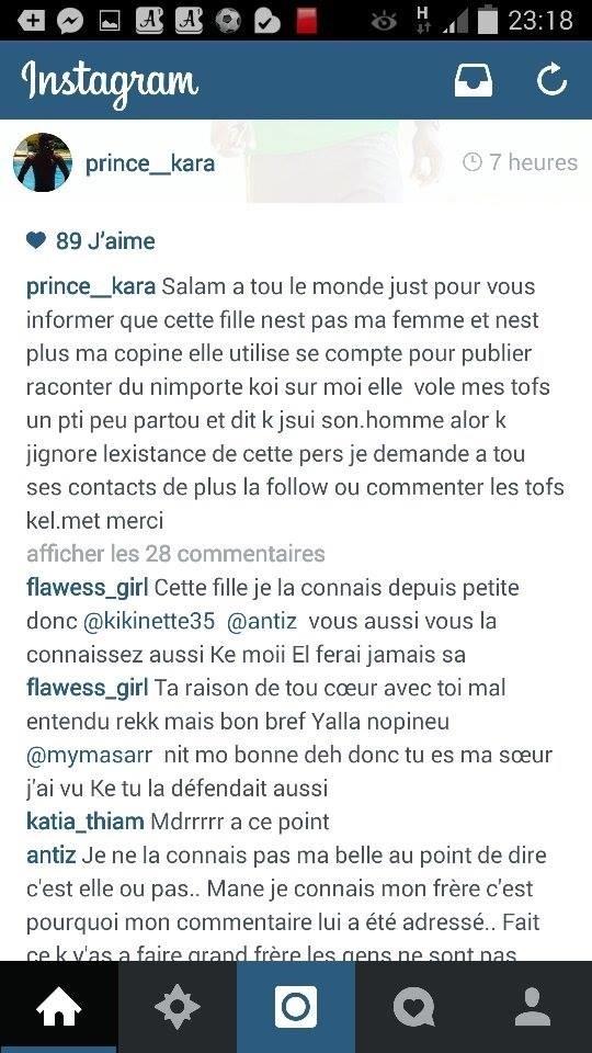Kara Mbodj dément être l'amant, encore moins le mari de Jeanne N'diaye sur Instagram