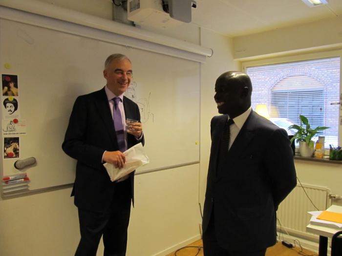 Idrissa Seck  en Suede pour une série d'activités et de rencontres du Parti Libéral Suédois