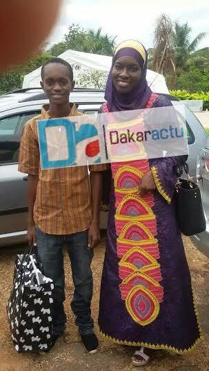 La journaliste Oureye Thiam Preira en compagnie du guinéen Mamadou Aliou Diallo