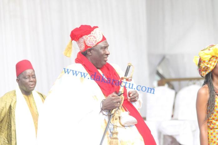 Le grand serigne de Dakar, Papa Ibrahima Diagne à la pose de la première pierre de la cité de l'émergence