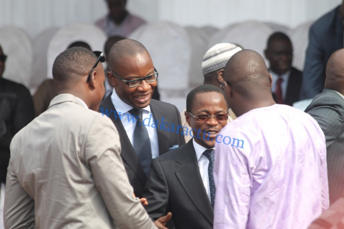 Le vice-président de l'Assemblée nationale Abdou Mbow en compagnie du député Farba Ngom