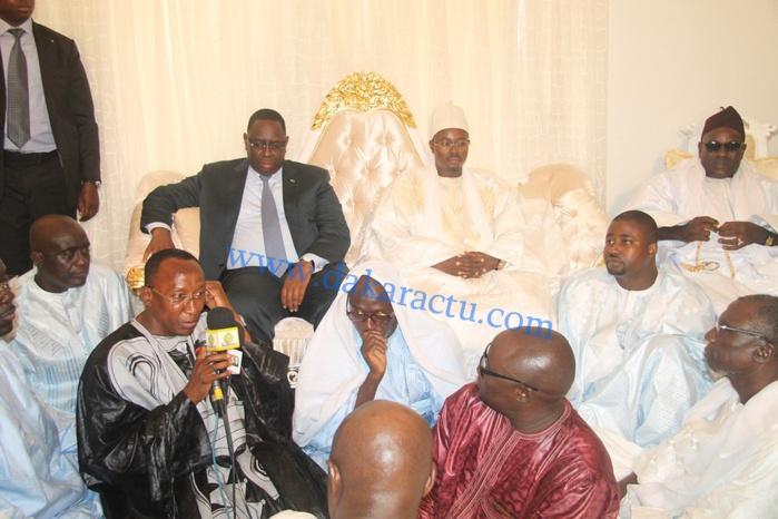 Les images de la visite du président Macky Sall chez Serigne Bass Abdou Khadre Mbacké