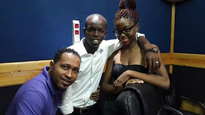 Voici les animateurs Freedy H, Speedy et Zara d'Urban Radio