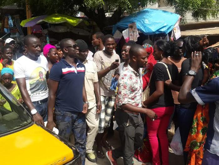 Les images de la caravane de Pape Diouf à Pikine