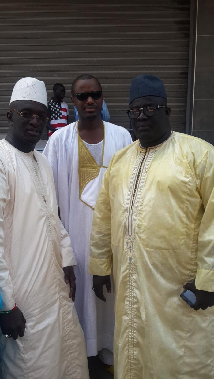 Mbaye Babacar Sène en compagnie de Thiam au baptême du fils d'Aziz Ndiaye