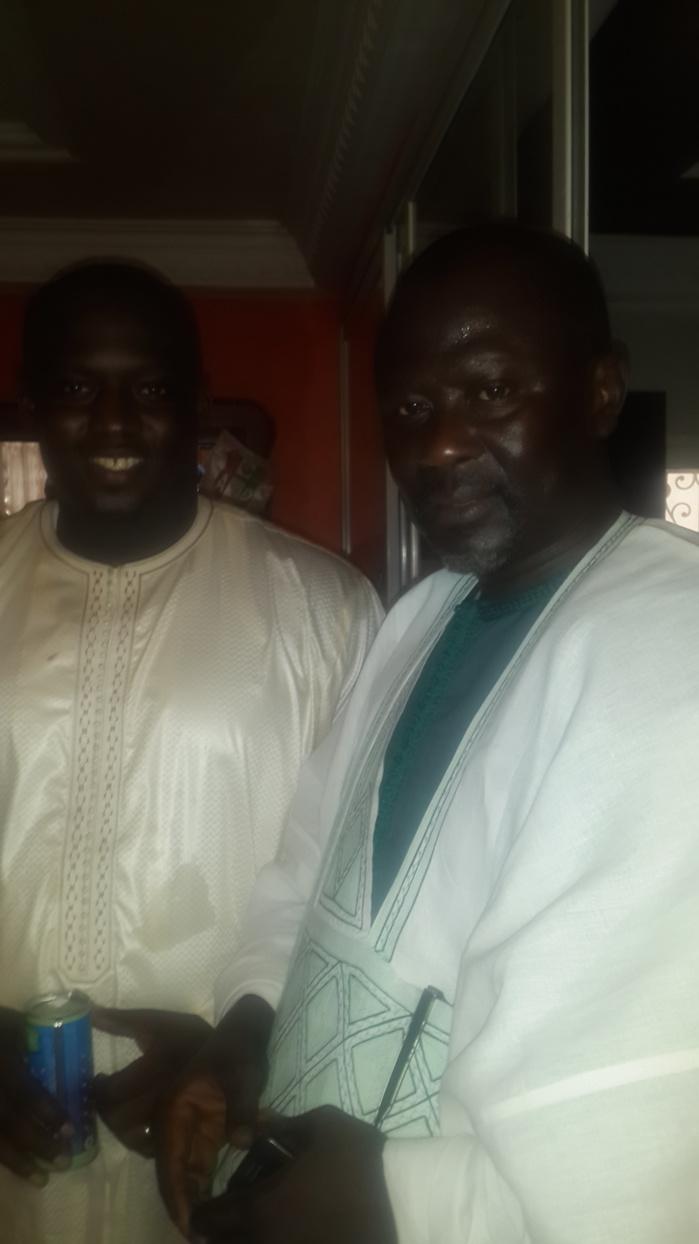 Bakhaw Da Brains et El hadj Ngagne Diagne au baptême du fils d'Aziz Ndiaye