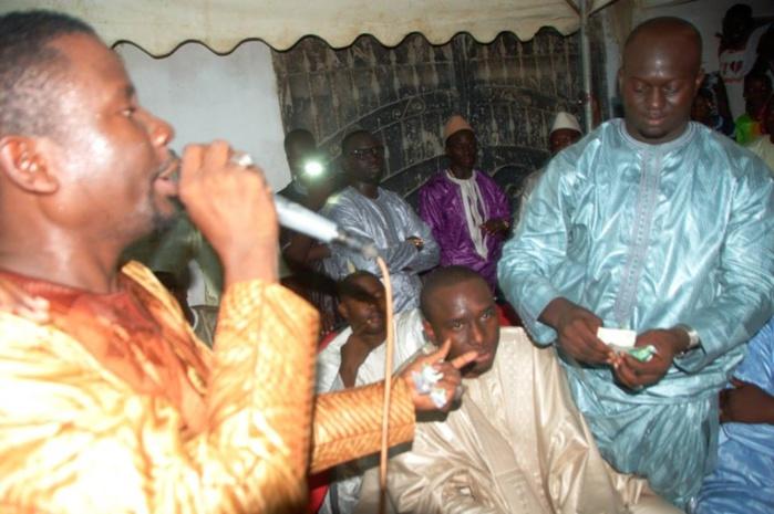 Wally Ballago Seck et Elimane Lam au baptême des jumeaux d'Aziz N'diaye