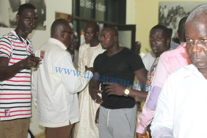 """Le lutteur Modou Lo était aussi au stade pour soutenir les """"lions"""""""