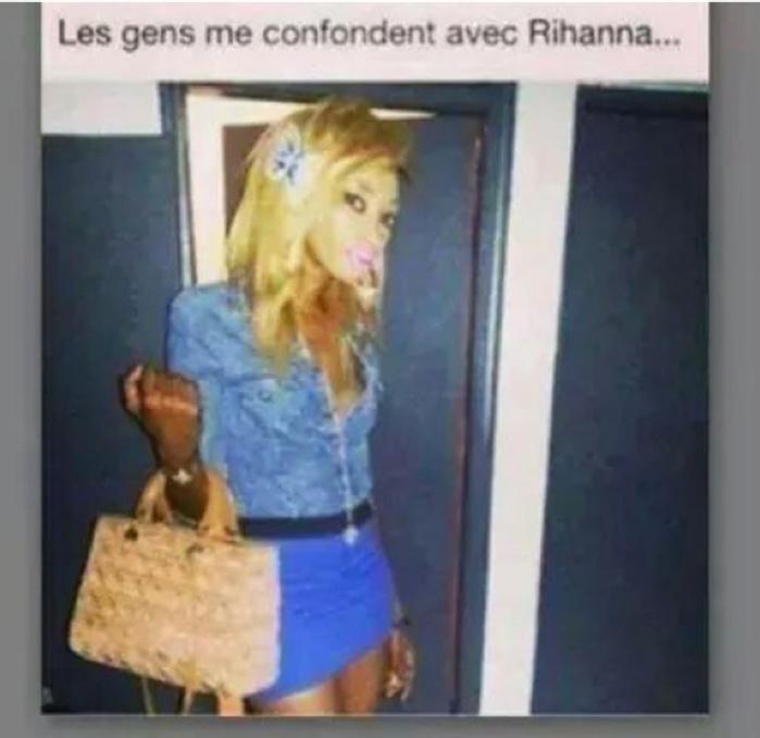 "INSOLITE : ""les gens me confondent avec Rihanna!""  A mourir de rire..."