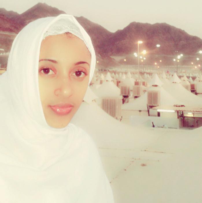 Adjaratou Sokhna Aidara Seck lors du hajj à la Mecque