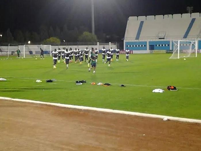 """Dernière séance d'entrainement des """"lions"""" avant le match du 15 octobre contre la Tunisie à Monastir"""