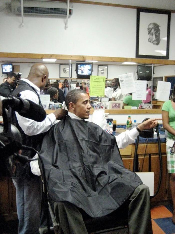 Le président des USA, Barack Obama n'a pas changé de coiffeur